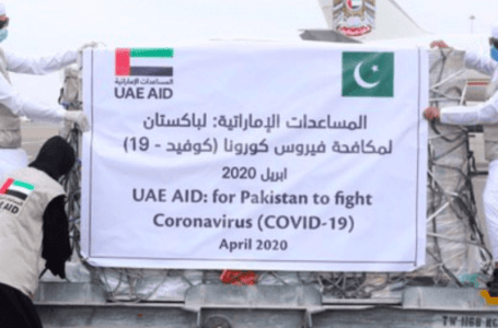 14 metric tons of food and medical aid from UAE has arrived
