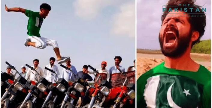 Long jumper in viral video applauded
