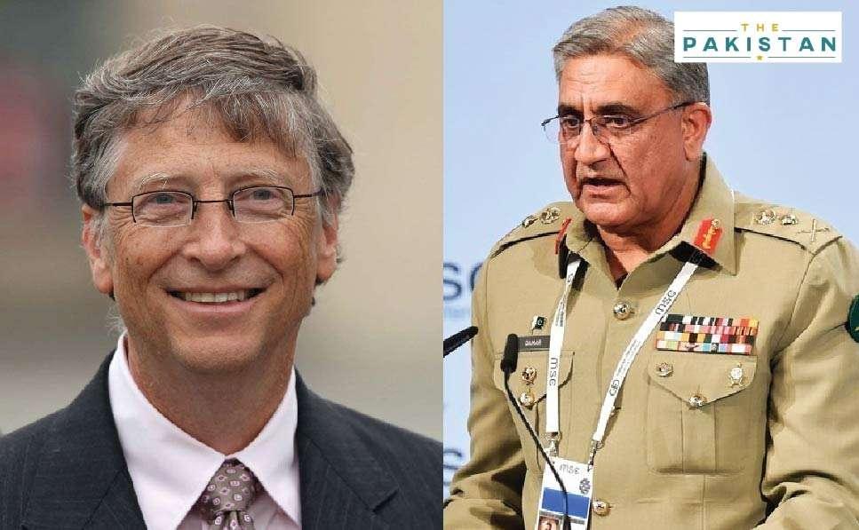 Bajwa, Bill Gates discuss polio, COVID-19