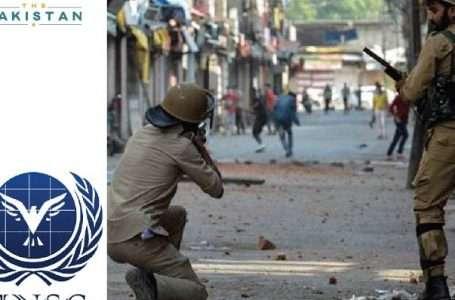 UNSC discusses Kashmir issue