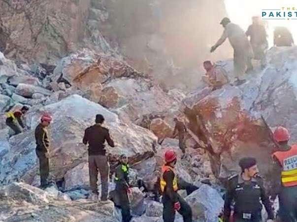 Marble landslide at KP kills 17