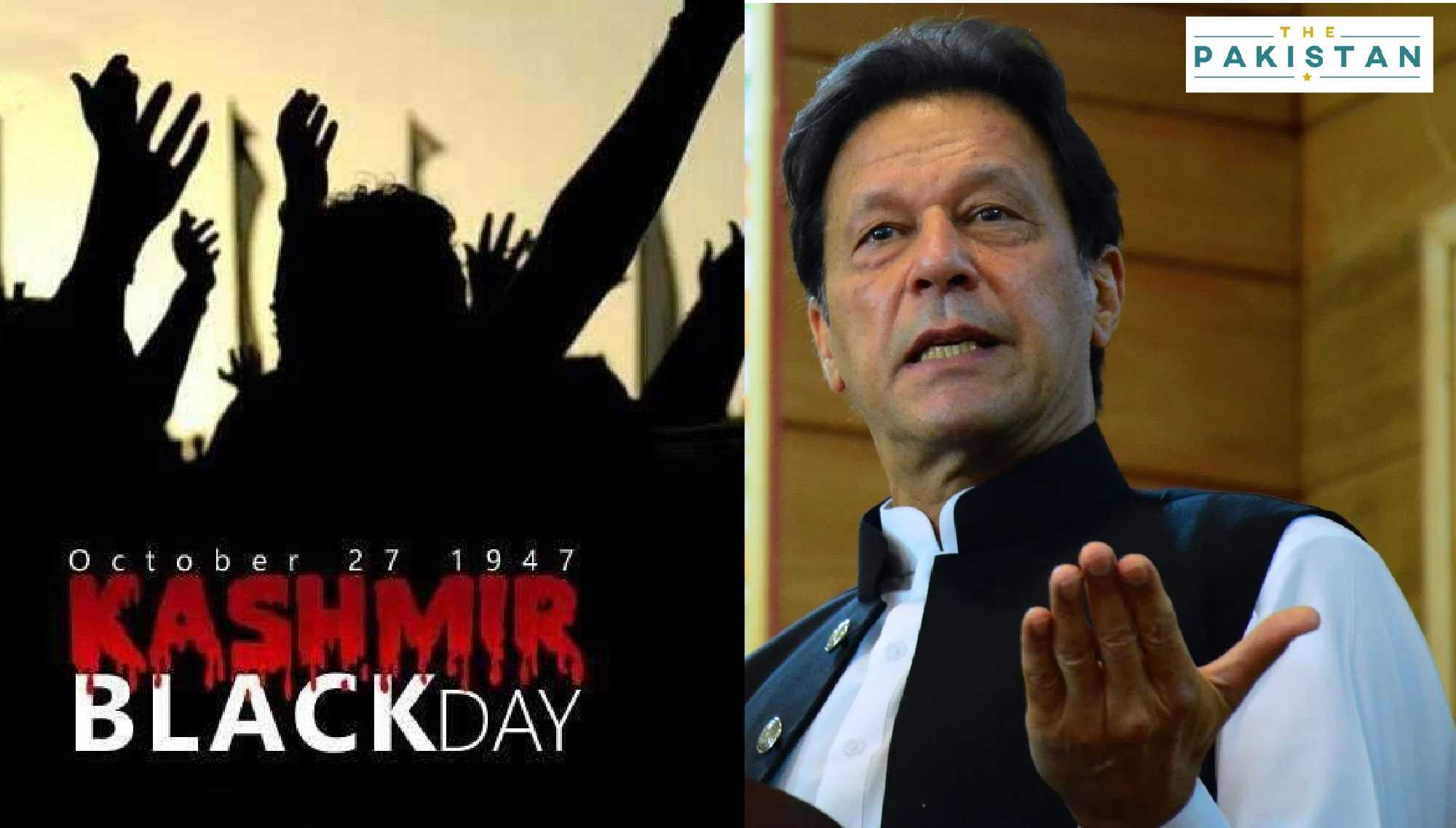 Black Day: Khan vows to support Kashmiris