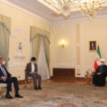 FM Qureshi meets President Hassan Rouhani