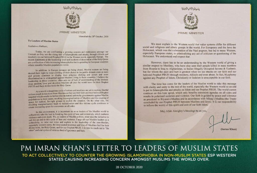 Islamaphobia-letter-imran-khan