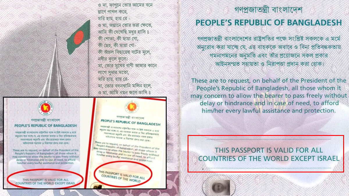 People suspect dynamics change between Israel-Bangladesh after former removes 'except Israel' clause