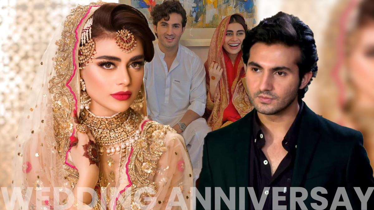 Celebrity couple Shahroz Sabzwari-Sadaf Kanwal celebrate one years anniversary