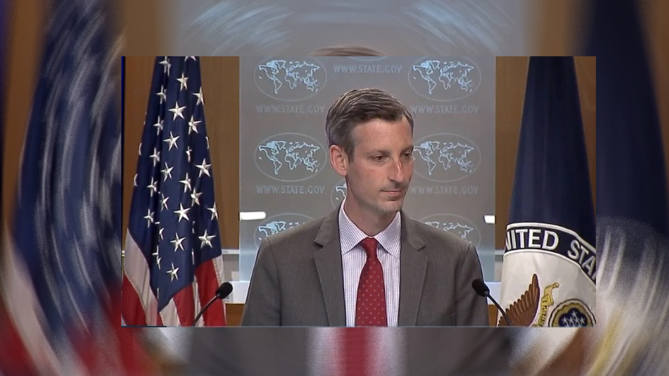 US official unable to answer reporters with a straight face on Palestine issue