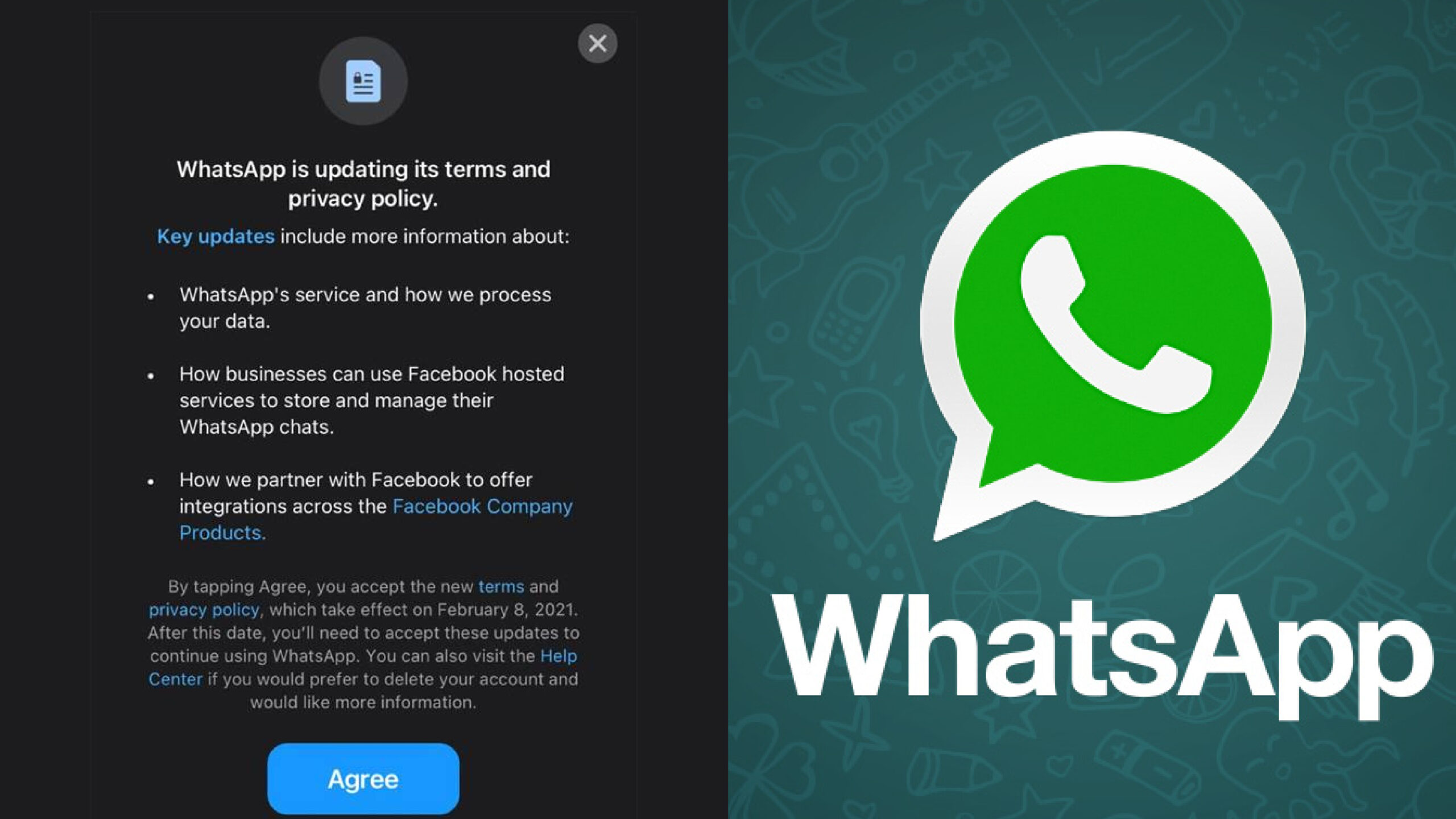 WhatsApp will limit features for users who don't accept new data‑sharing rules