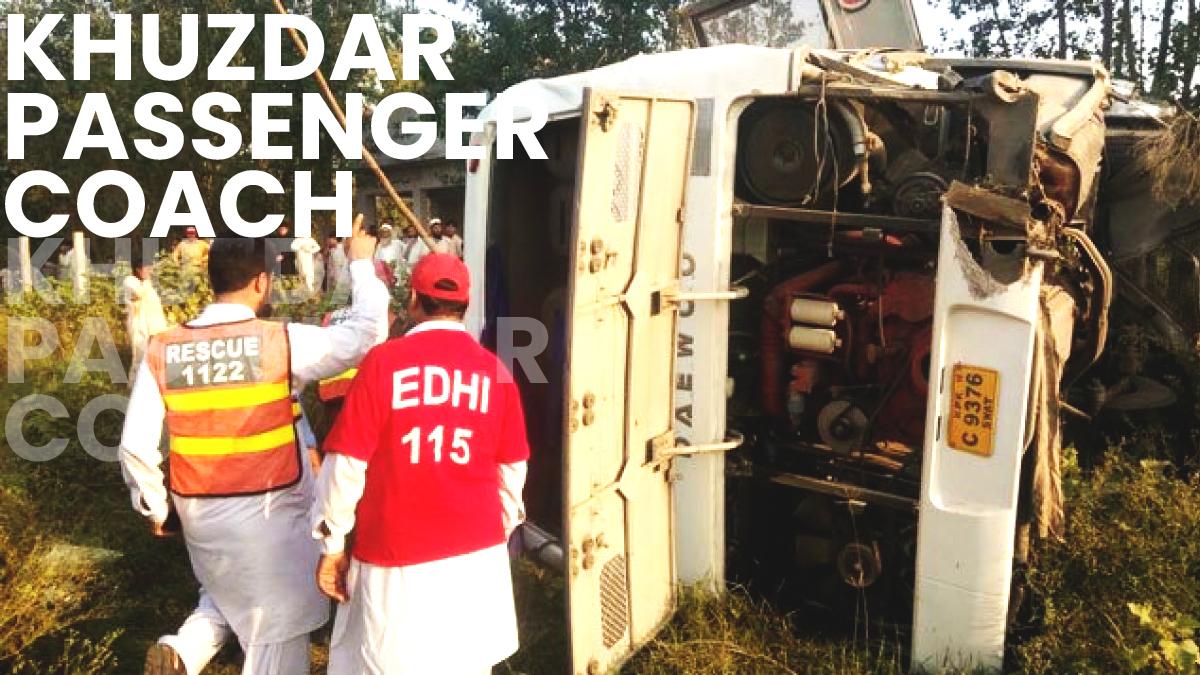18 people die in a bus crash in Pakistan's Khuzdar