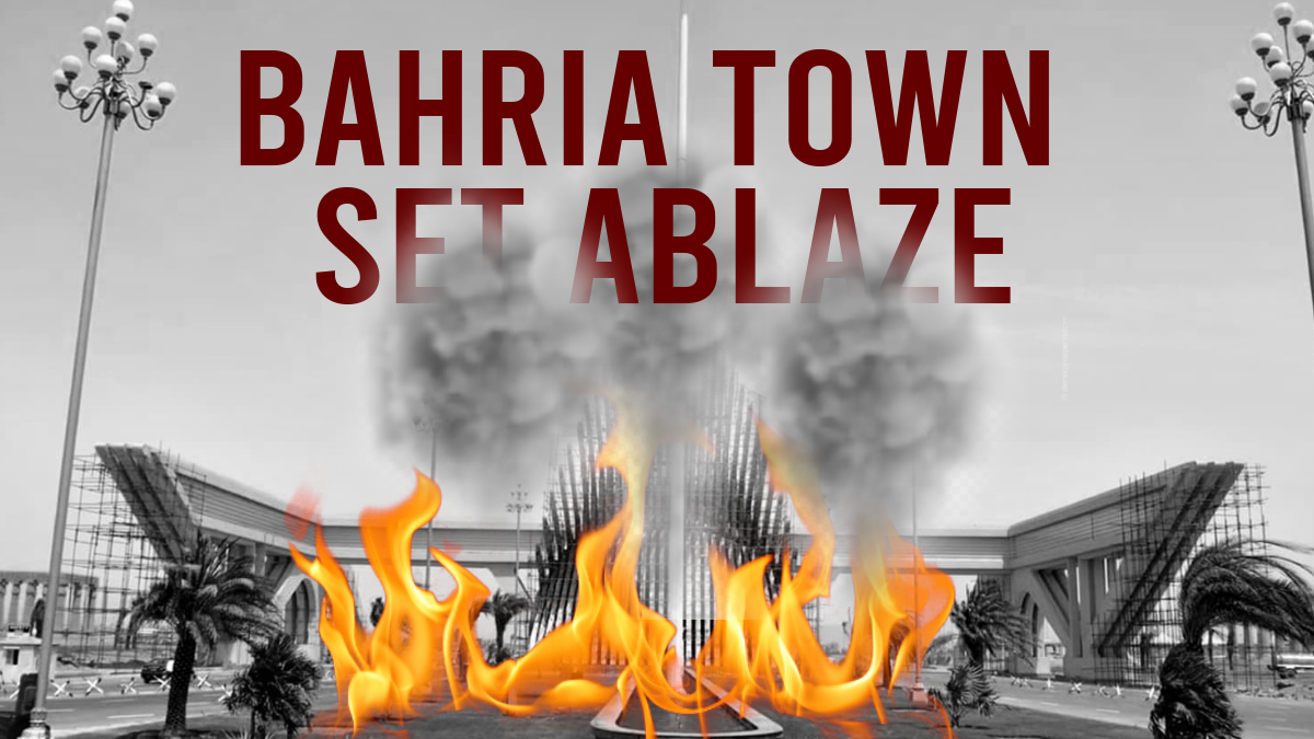 Bahria Town mobbed as several shops, showrooms set ablaze
