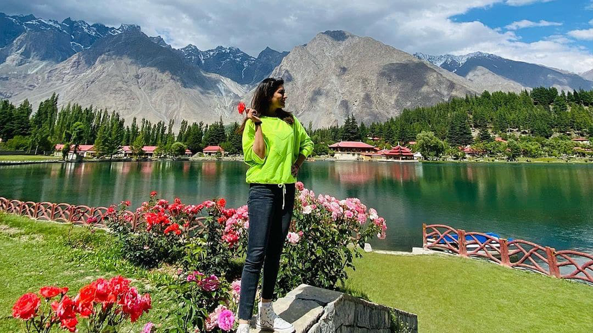 Mehwish Hayat enjoys cherry-picking in Skardu